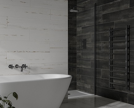Umbra wood effect bathroom tile