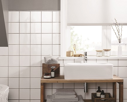 White bathroom tiles Grey Grout White Bathroom Wall Tile The Spruce Bathroom Tiles Tile Giant