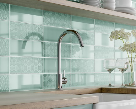Serene Kitchen Wall Tile