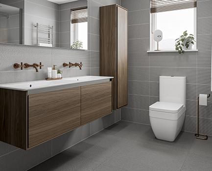 Powder Bathroom Floor Tile