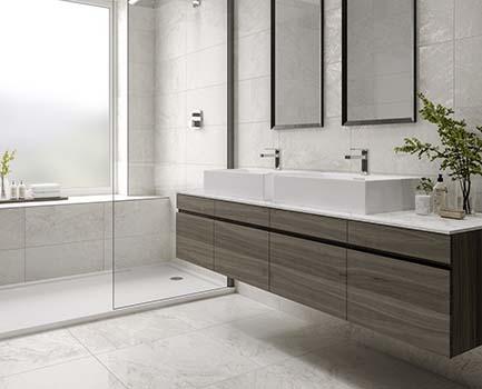 Murale Bathroom Floor Tile