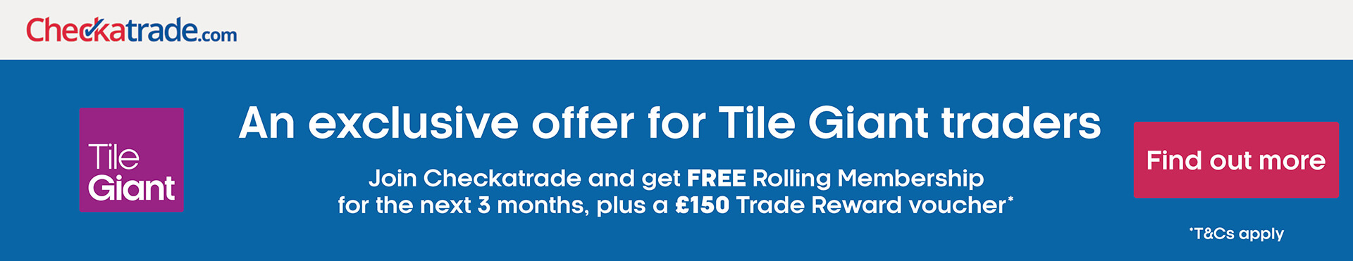 Tile Giant in partnership with Checkatrade