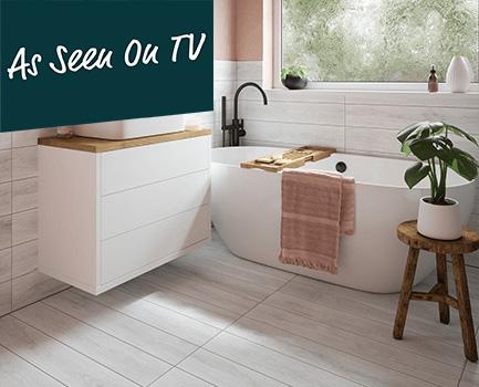 Stanton White Wood Effect Tile