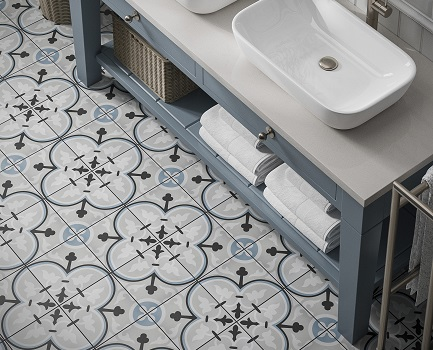 Adorne Patterned Floor Tile