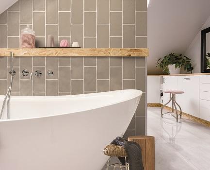 Cottage Bathroom Wall Tile