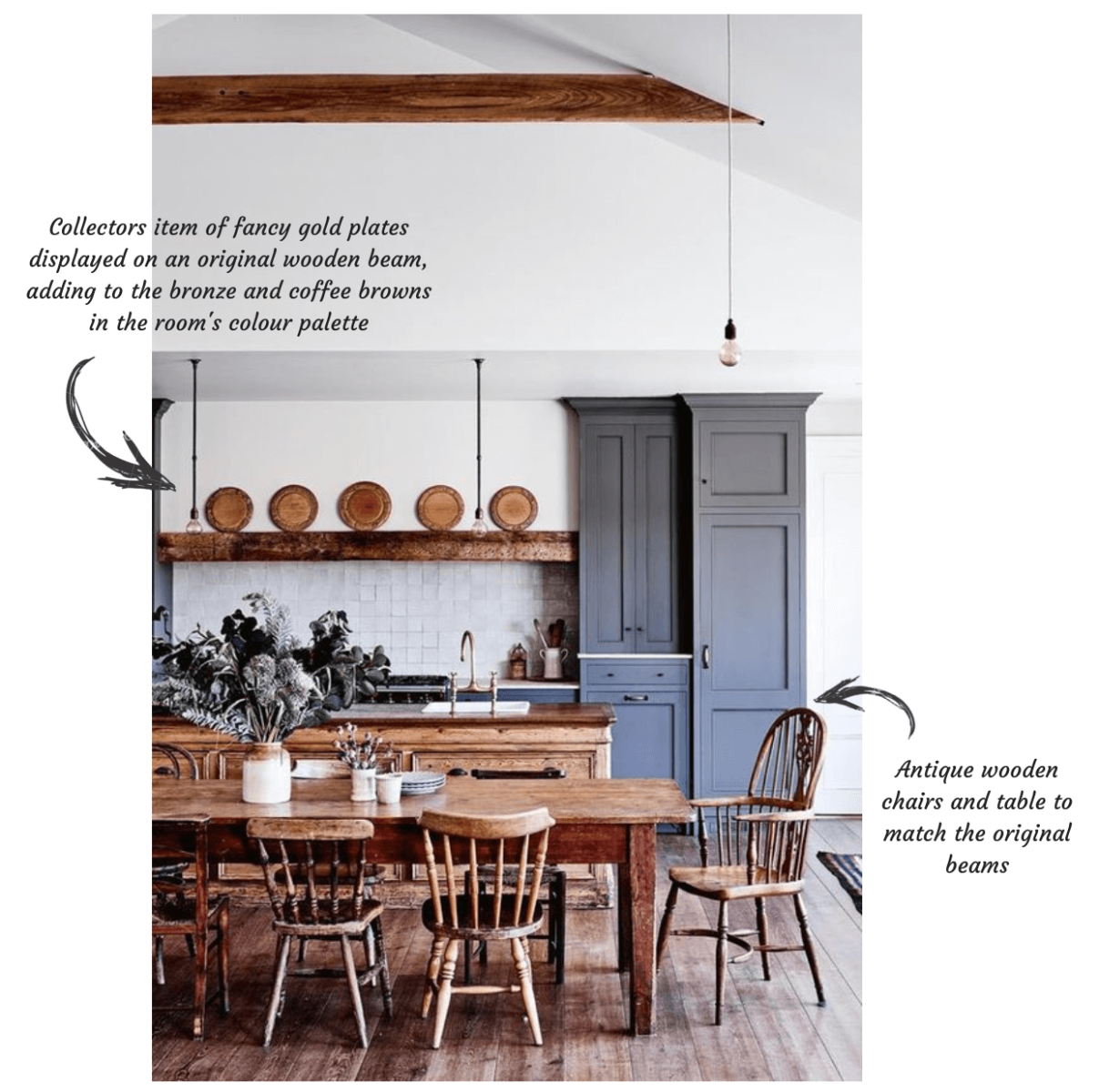 How To Make A Class Country Kitchen Stay On Trend With Antiques