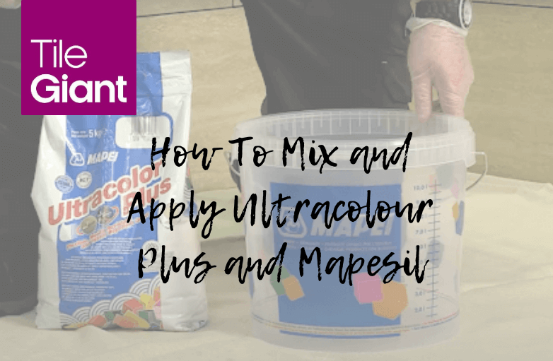 Mix and Apply Ultracolour Plus and Mapesil