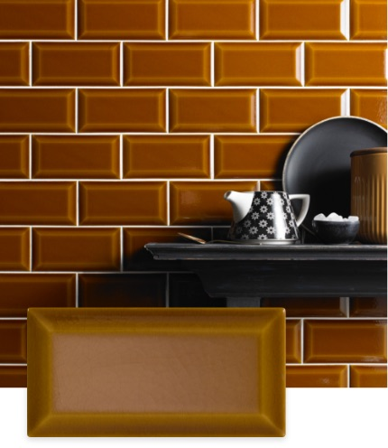Bevel Mustard Victoria Baths Tile | Tilegiant.co.uk