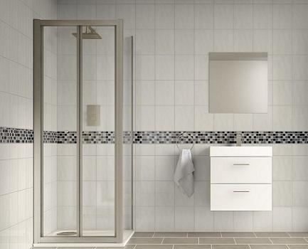 Reflection Bumpy White Bathroom Wall Tile