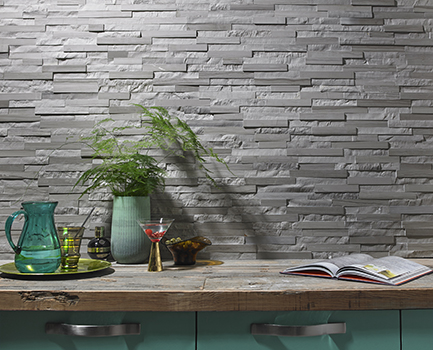 Cedar Grey Split-Face Tiles