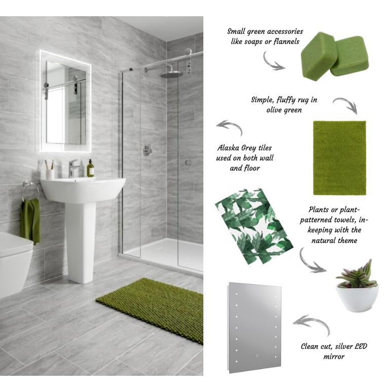 Bathroom style with Alaska Grey