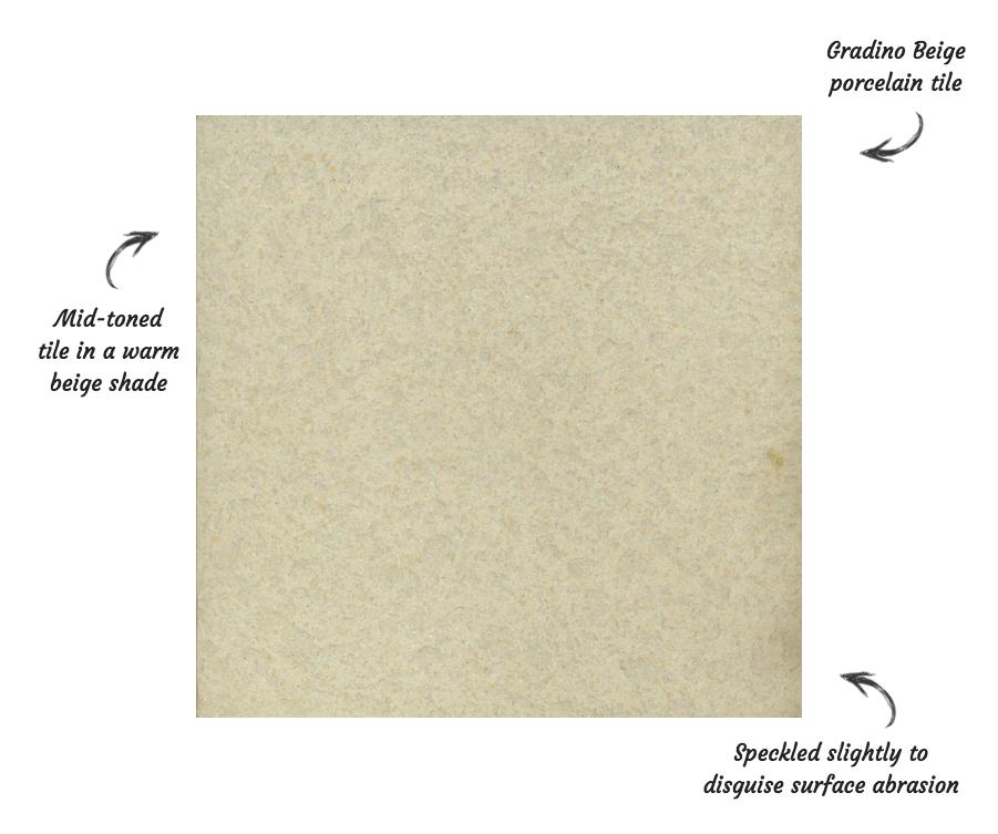 Gradino Beige Porcelain Wall and Floor Tile