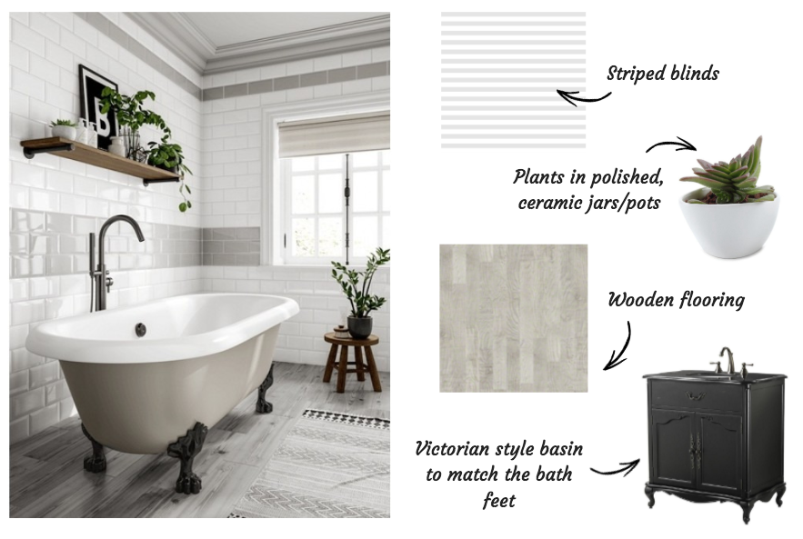 Styling Metro tiles in the bathroom