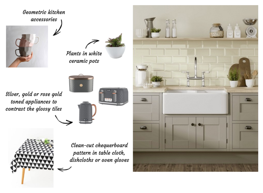 Styling Metro tiles in the kitchen