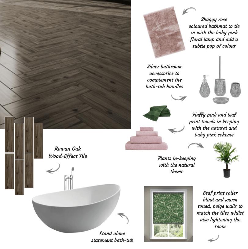 Styling Rowan Oak tiles in bathrooms