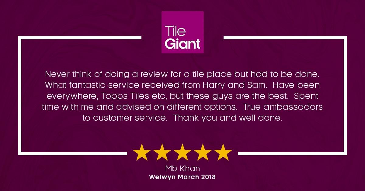 Tile Giant Welwyn Garden City Review