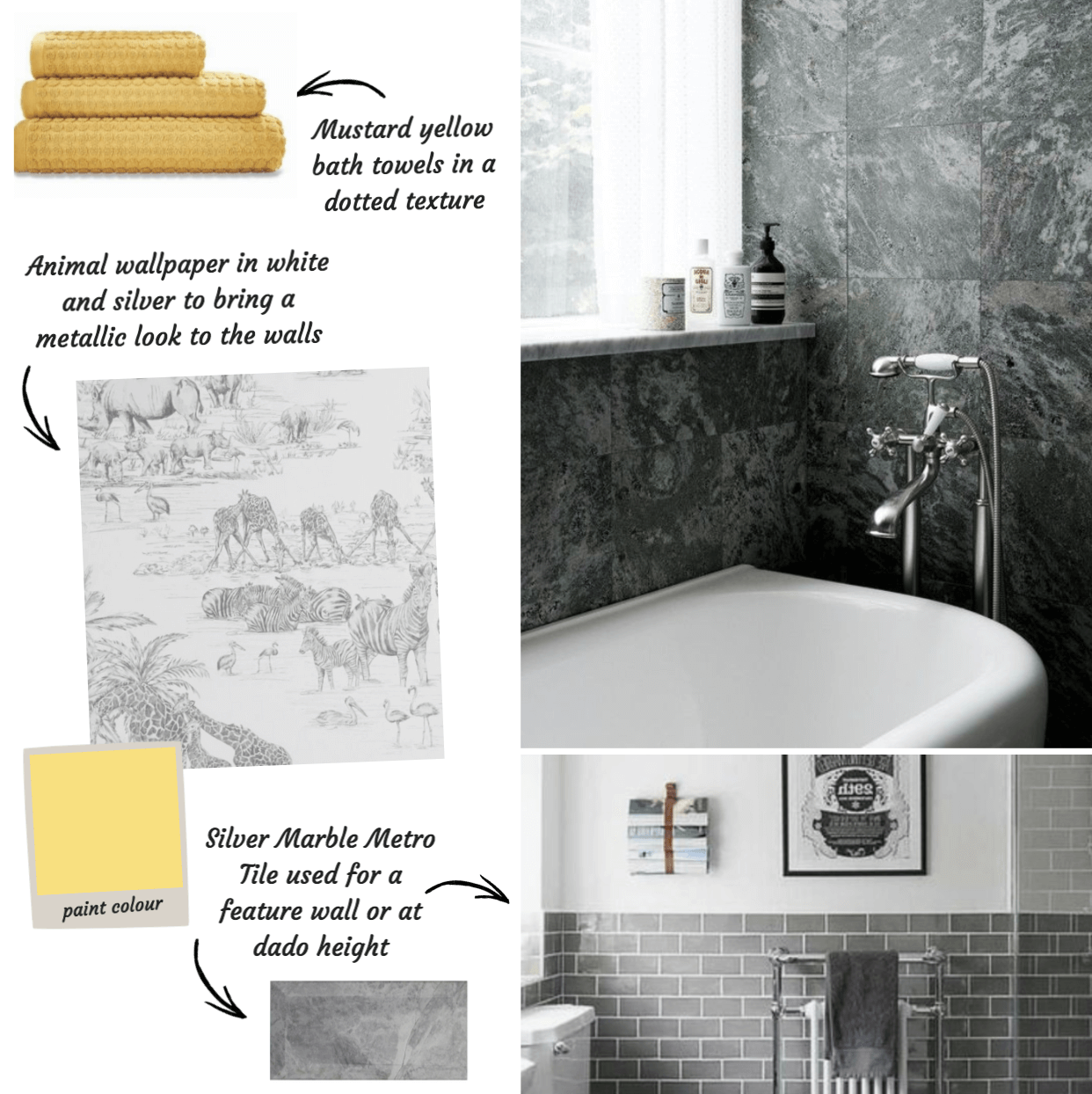 Silver Marble Metro Tiles from Tile Giant