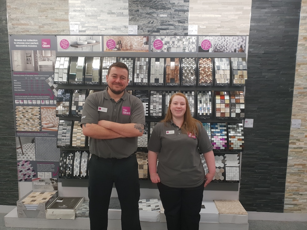 Tile Giant Store of the Month Motherwell Team