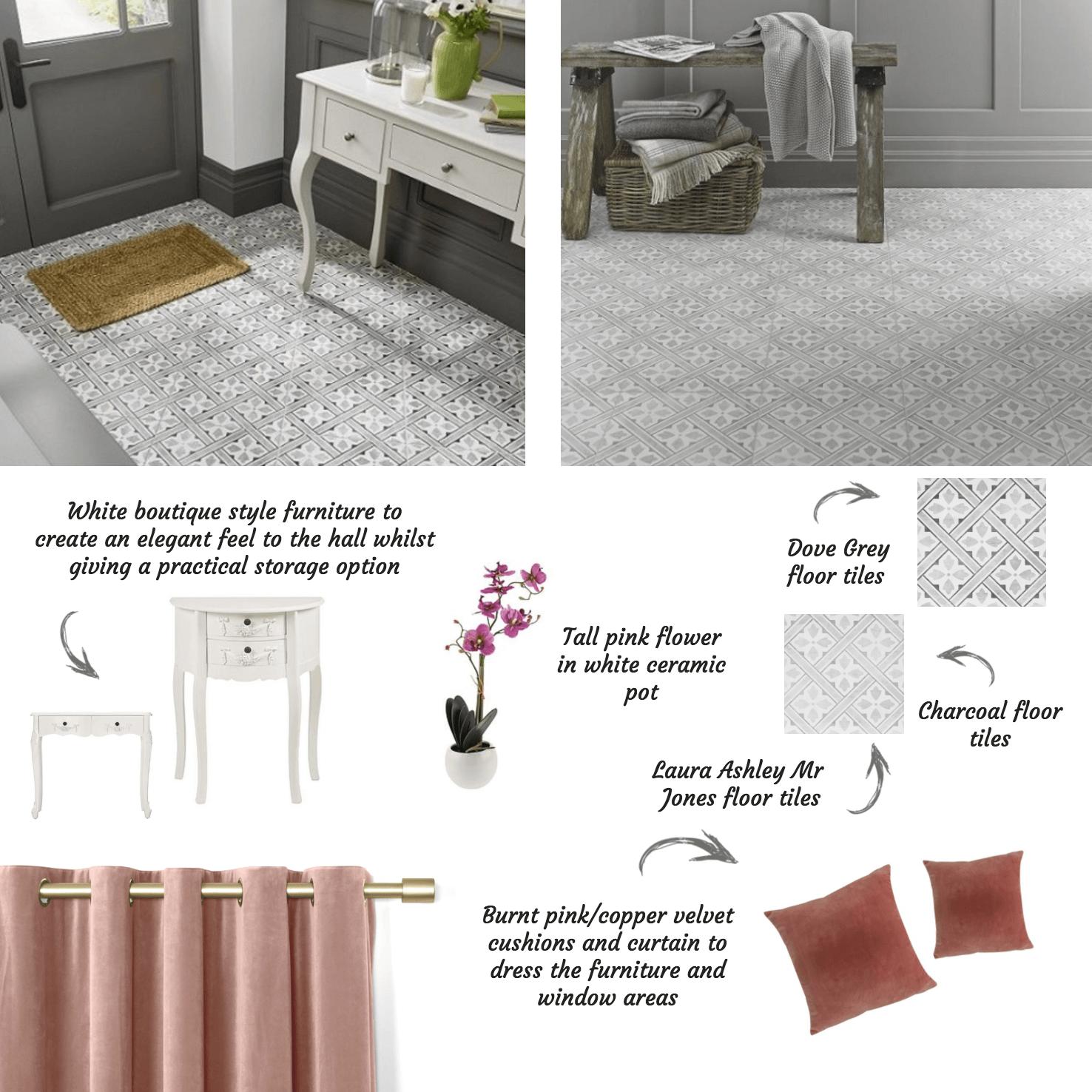 Laura Ashley Mr Jones Patterned Tiles