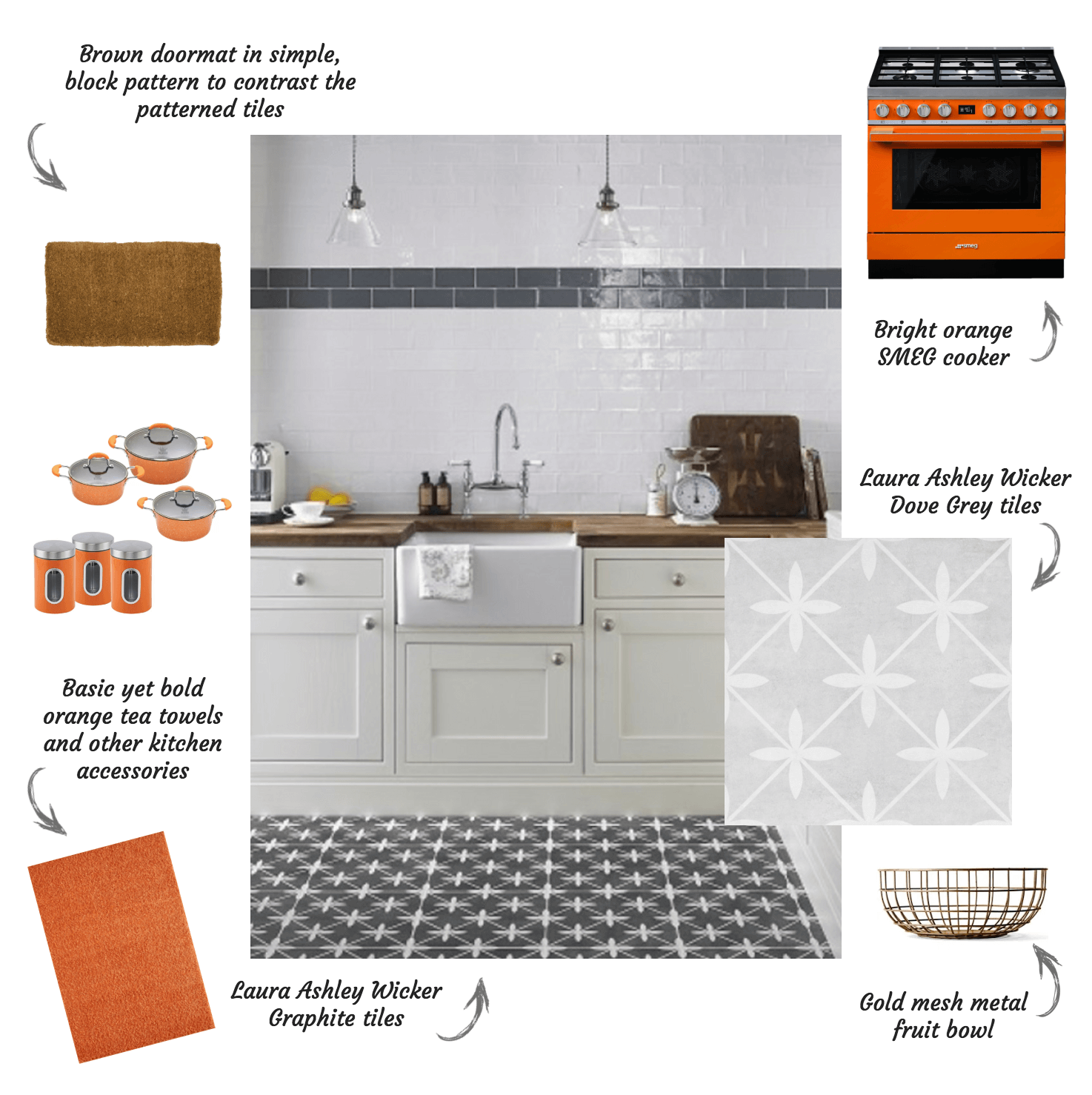Laura Ashley Wicker Patterned Tiles