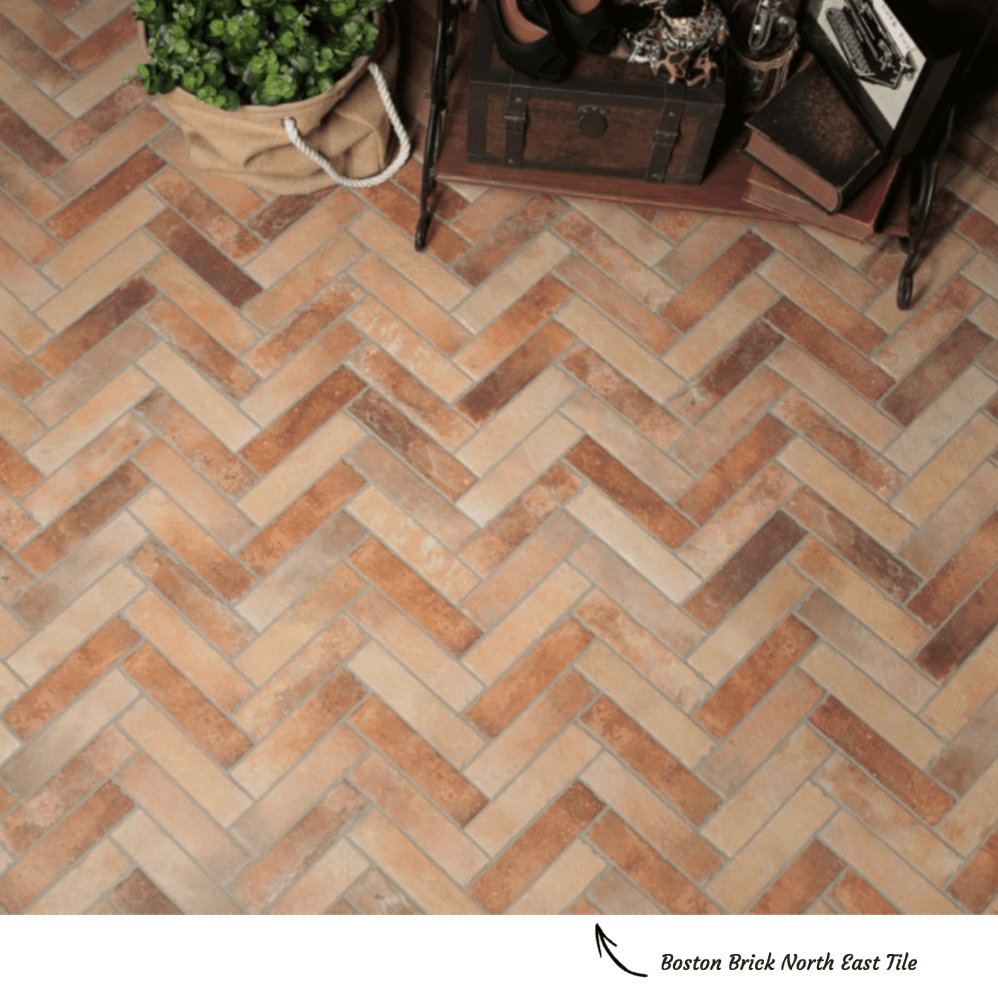 Herringbone Tile Pattern Example