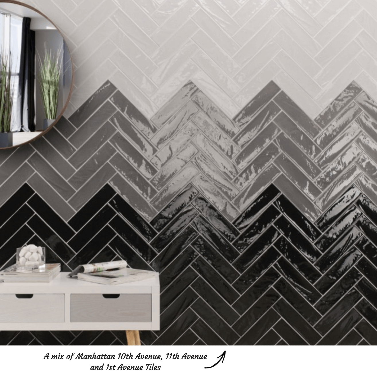 Herringbone Tile Pattern Manhattan