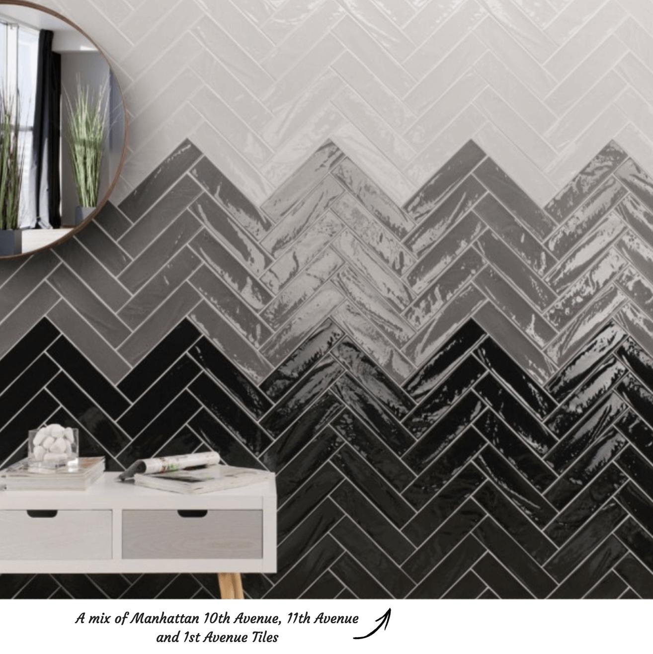 Herringbone Tile Pattern Manhattan