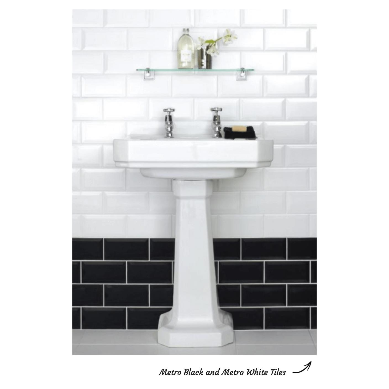 Metro Black and White Brick Bond Pattern