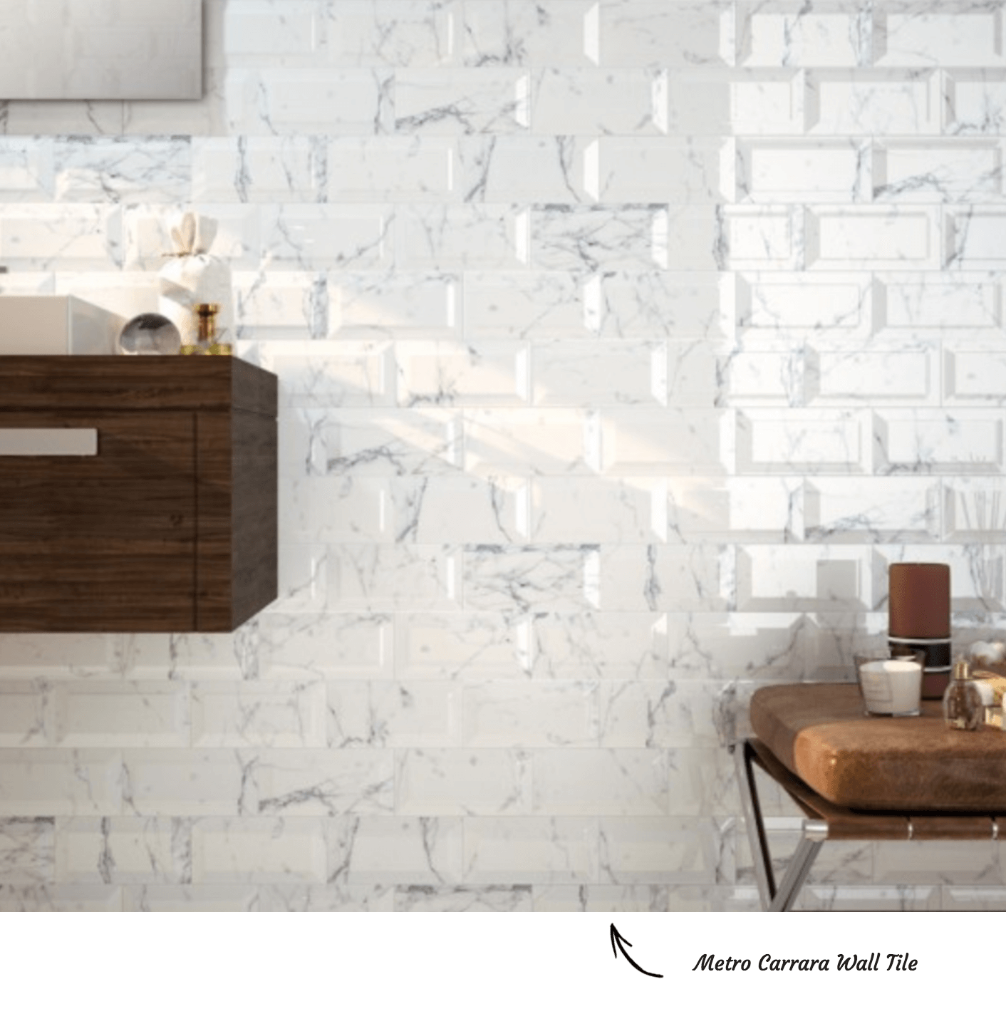 Metro Carrara Brick Bond Tile Pattern