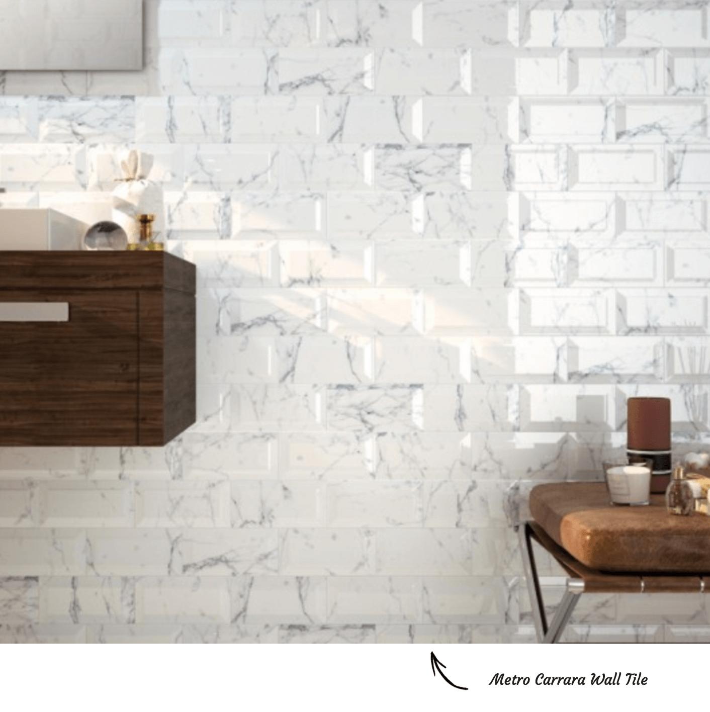 Metro Carrara Brick Bond Tile Pattern