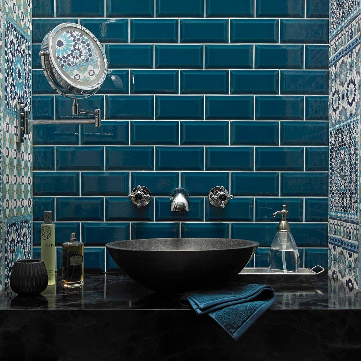 Bevel Teal Victoria Baths Tile from Tile Giant