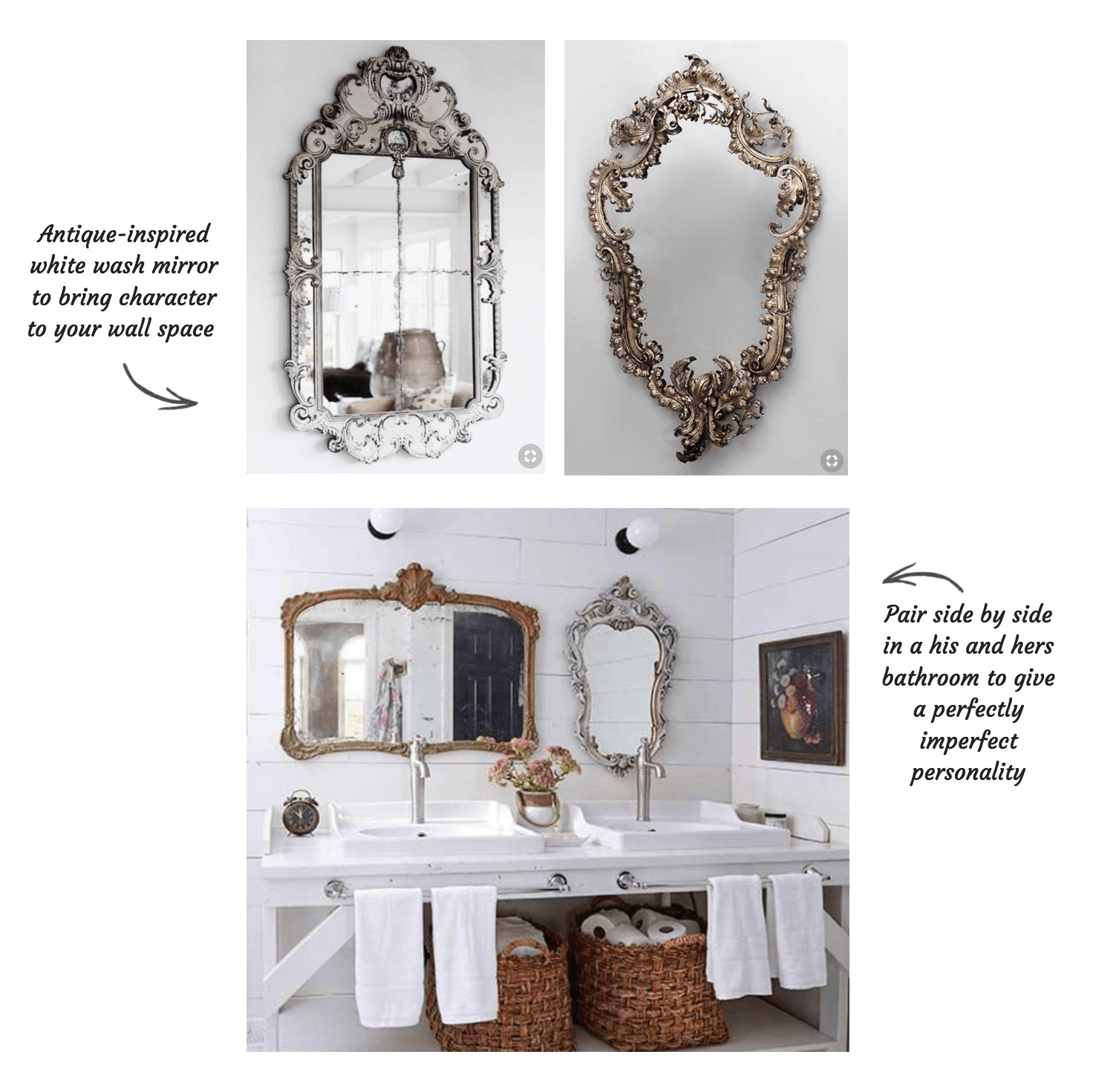 Styling Antique Bathroom Mirrors with Tiles