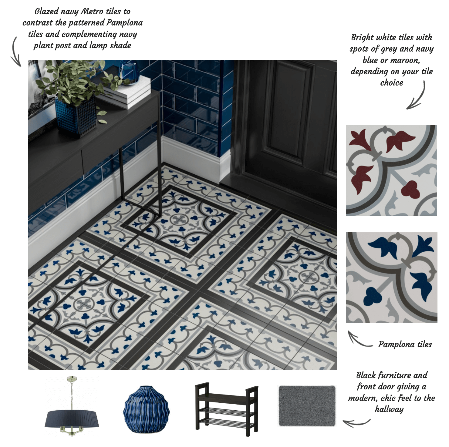 Pamplona Tiles Victorian Tiles from Tile_Giant