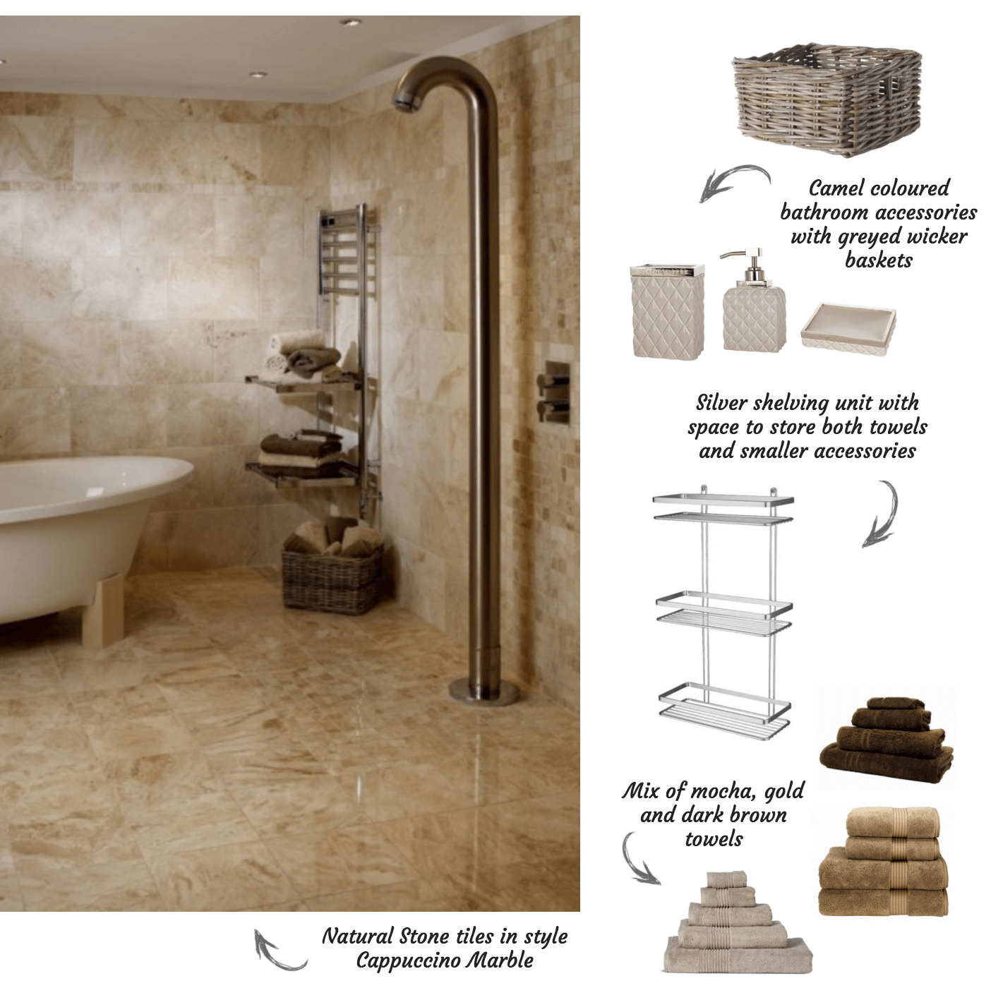 Natural Stone Tiles for Wet Rooms